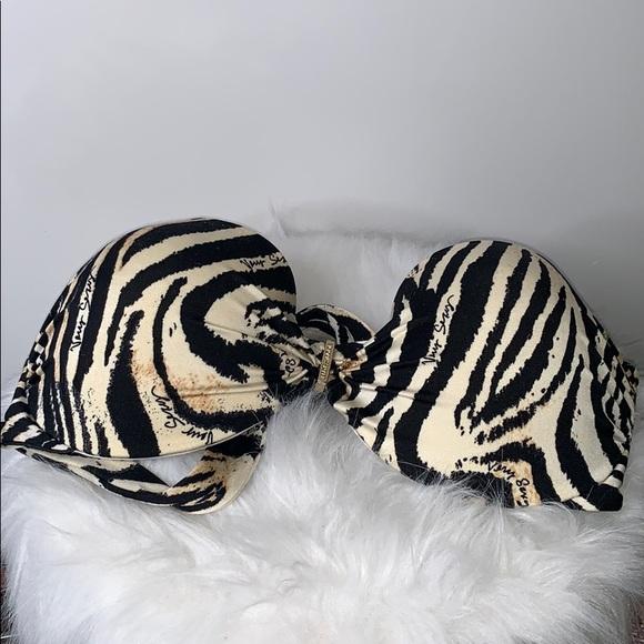 Victoria's Secret Other - VICTORIAS SECRET • Zebra Animal Print Swim Tie Top